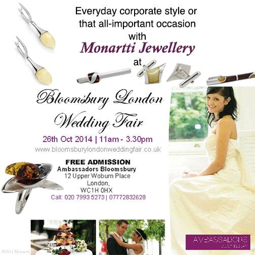 Monartti at Wedding Show at Ambassadors Bloomsbury Hotel London, Monartti Jewellery